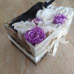 Box kwiatowy z miejscem na wino - 3