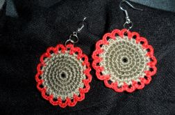 brązowo - czerwone kwiatuszki