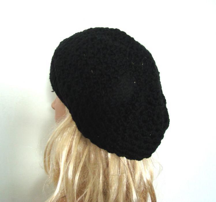ażurowy beret