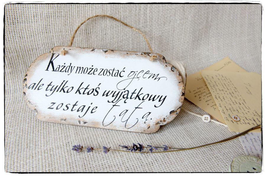 Szyld Tabliczka z napisem Dzień Ojca dla taty