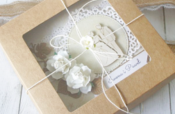 Kartka ślubna w pudełku - rustykalna Natura.2