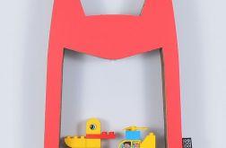 Półka na książki zabawki HERO | czerwony