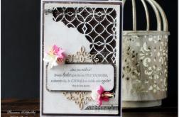 Ażurowy narożnik- ślubna karta #4