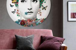 Lina Cavalieri - obraz w okrągłej ramię