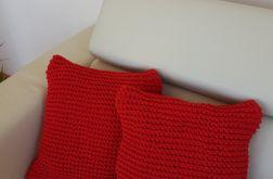 Komplet dwóch czerwonych poduszek