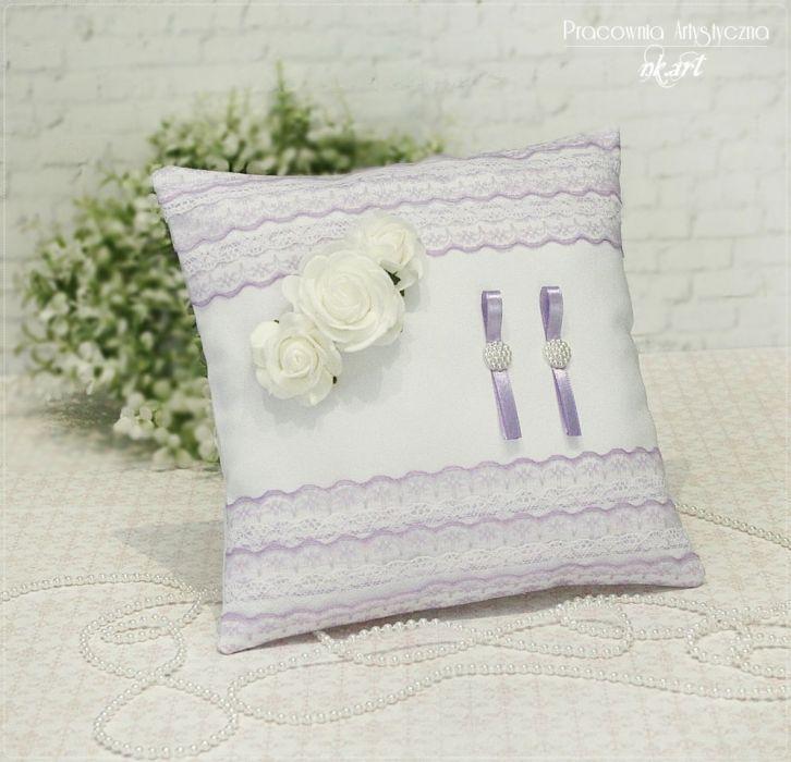 Poduszka pod obrączki we fiolecie