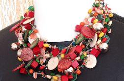 4520 naszyjnik kolia jesienne kolory
