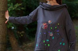 Bluza z szalokapturem BAŚNIOWO grafitowa
