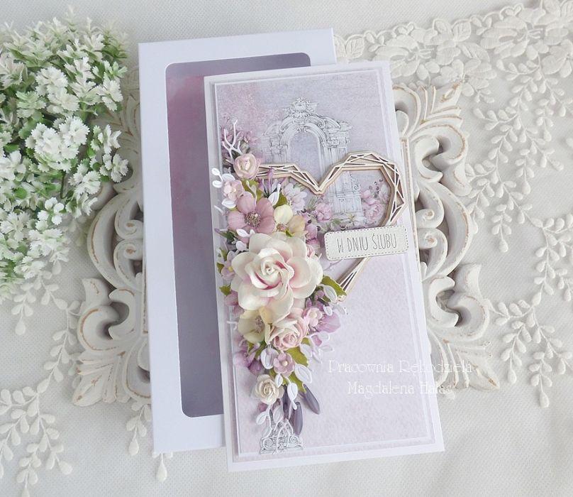 Ślubna kartka  w pudełku 318