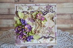 kartka urodzinowa - fiolet