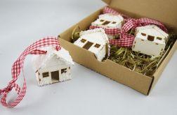 Ośnieżone domki - zawieszki