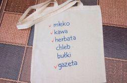 torba lista ręcznie malowana