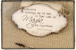 Tabliczka z napisem ~Magia Marzeń~ Szyld