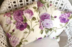 Poszewka fioletowe róże