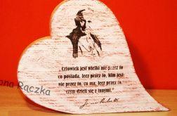 Serce z cytatem JP II