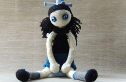 Lalka szydełkowa - Ulka czarnulka