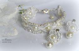 ślubna biżuteria sutasz z perłami