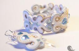 Komplet biało - błękitny