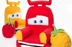 Foteliki dla dzieci i poduszki malinki