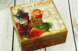 szkatułka- karnawał w Wenecji
