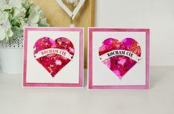 Serce malowane - kartka