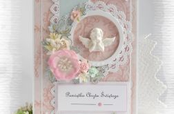Pamiątka chrztu w pudełku róż #6
