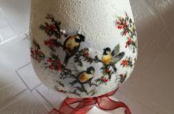 Zimowy lampion z ptaszkami