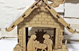 STAJENKA szopka SCENKA bożonarodzeniowa drewo