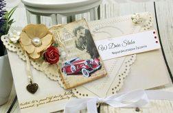 Kartka z okazji ślubu-miłość w klimacie retro