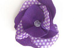 fioletowa broszka kwiatuszek nr 2