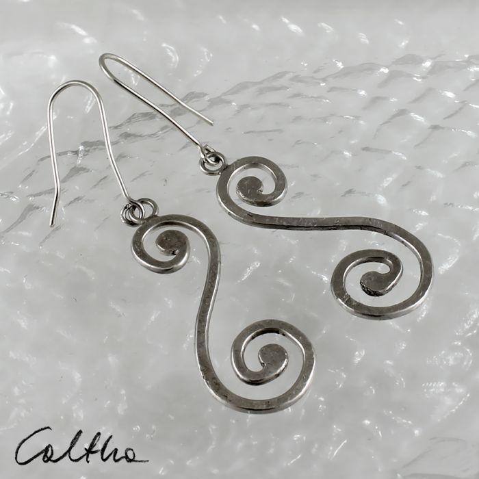Zawijasy - srebrne kolczyki 180206-05