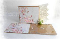 Folder na płytę, róż i brąz