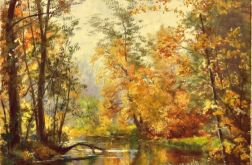 Jesienny pejzaż obraz olej