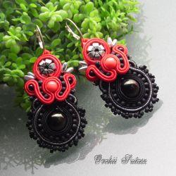 SUTASZ  KOLCZYKI Red& black