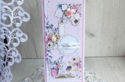 Kartka ślubna DL w pudełeczku v2 GOTOWA