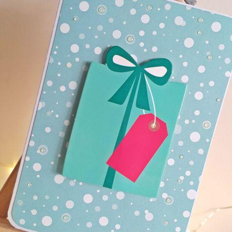 Kartka bożonarodzeniowa świąteczna prezent