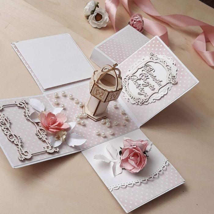 Pamiątka Chrztu dla dziewczynki-kartka box#2a