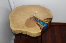 Stolik plaster drewna grab żywica