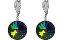 Kolorowe kolczyki z kryształami Swarovskiego