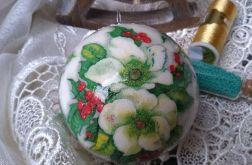 Bombka Zimowe Kwiaty 8cm