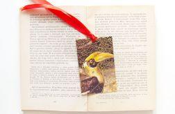 Vintage zakładka do książki ptaki 1