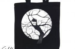 Drzewo - torba z nadrukiem czarna
