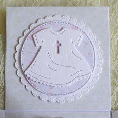 Biały exploding box na chrzest z aniołkiem.2