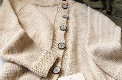 Sweter - kardigan  asymetryczny.