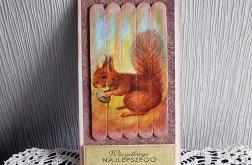 Kartka z uroczą wiewiórką