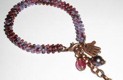 fioletowo-bordowy melanż
