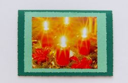 Zielona kartka - światło świec