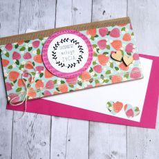 kartka kopertówka - poziomki - słodkiego...