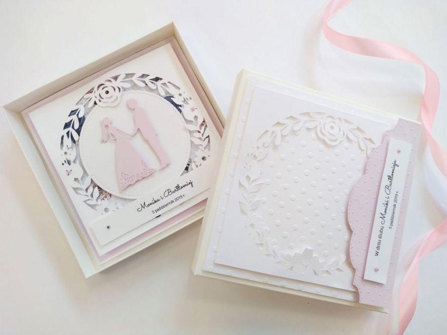 Kartka ślubna w pudełku - 04