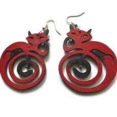 Kolczyki Kotki Zawinotki - czerwone